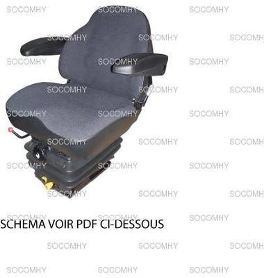si ge kab 11 e6 pour tracteur avec tissu et accoudoir. Black Bedroom Furniture Sets. Home Design Ideas