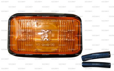 feu de clignotant lat ral carr led orange pour tracteur. Black Bedroom Furniture Sets. Home Design Ideas