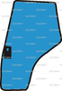 glace porte gauche pour massey ferguson s rie 4200 4300 4225 r f rence oem. Black Bedroom Furniture Sets. Home Design Ideas